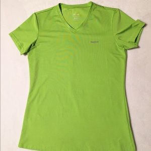 Reebok play dry V-neck fitted workout t-shirt